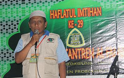 Sambutan Ketua Panitia Haflatul Imtihan Yayasan Al Falah